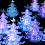 illuminated christmas trees